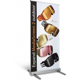 Rollup Media Screen Outdoor
